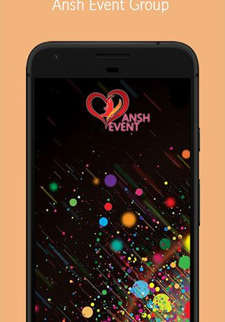 Ansh Event Group – Event Organizer App.